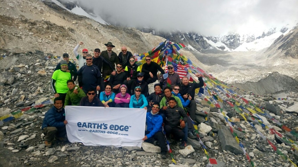 Everest Base Camp group shot