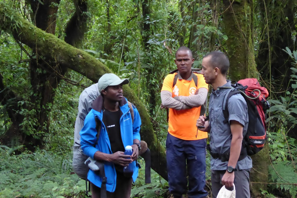 Chatting with Hebron and Thomas in the Jungle.