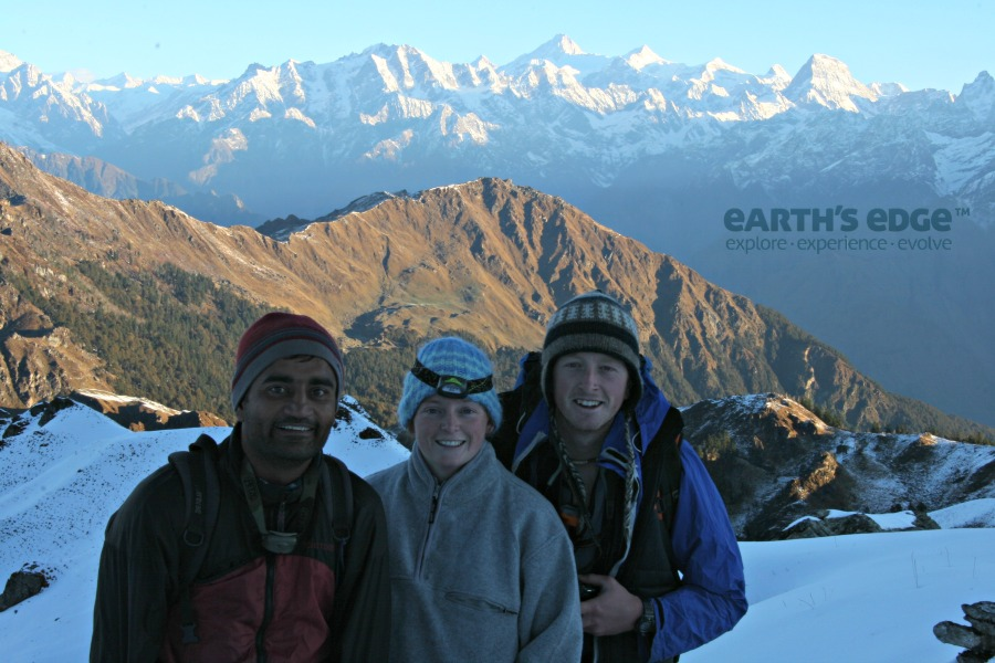 Himalayas Trek - Pankaj Sinead James on the Kuari Pass