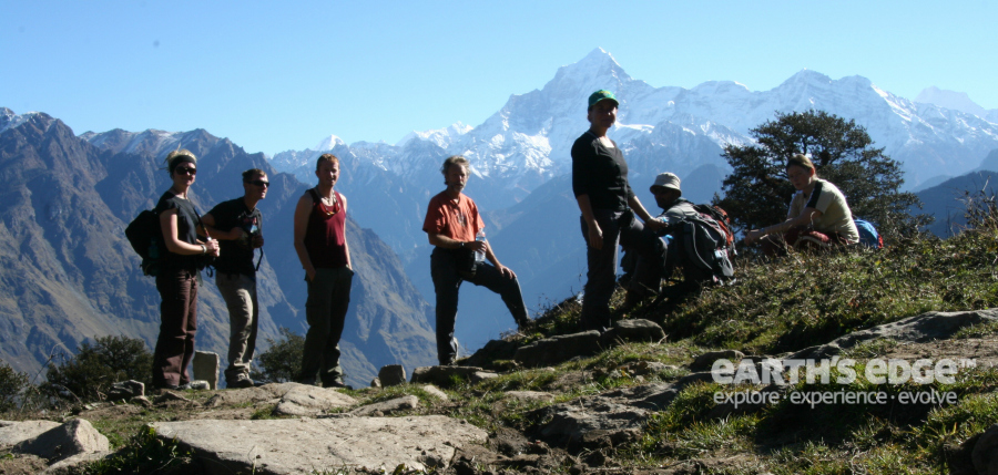 Himalayas Trek - Relaxing in the sun