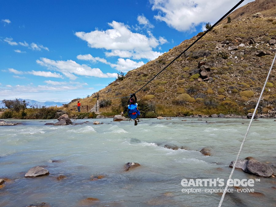 Patagonia - Crossing the Tunel River