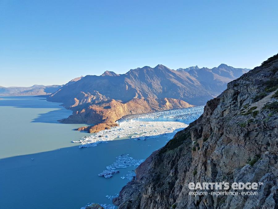 Viedma glacier and lake.