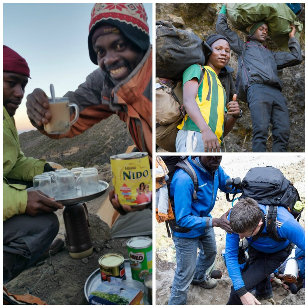 The Kilimanjaro porters work tirelessly to look after our groups on the mountain.