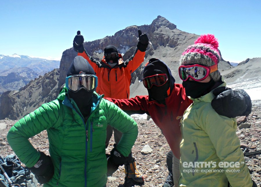 Protecting from dust and sun on Aconcagua