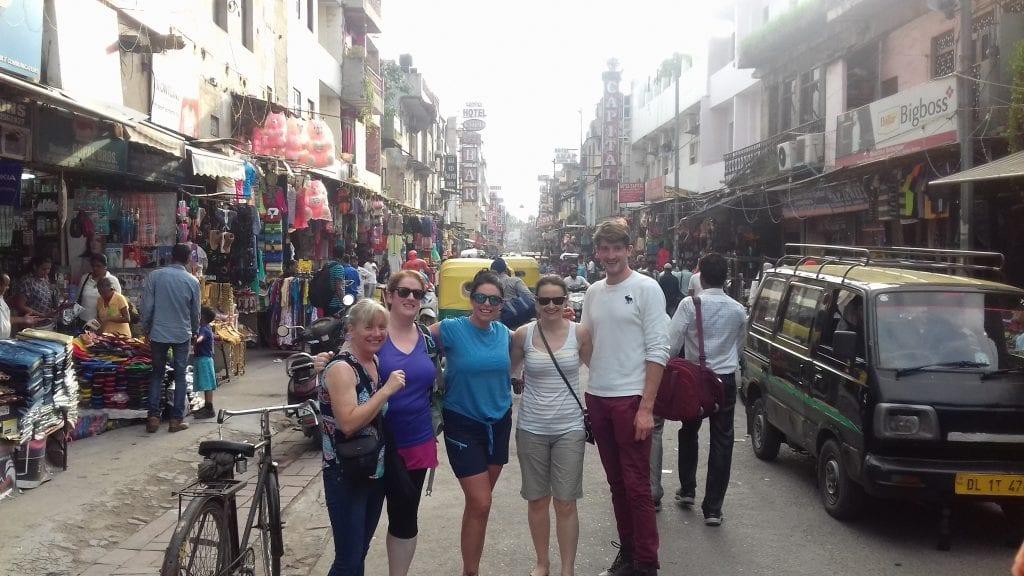 enjoying Delhi before starting the trek