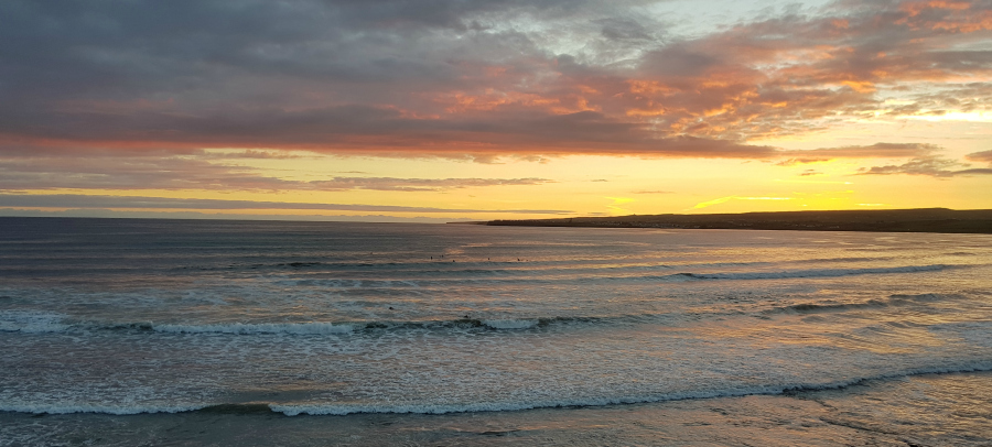 View from our office of Lahinch beach and Liscannor bay,