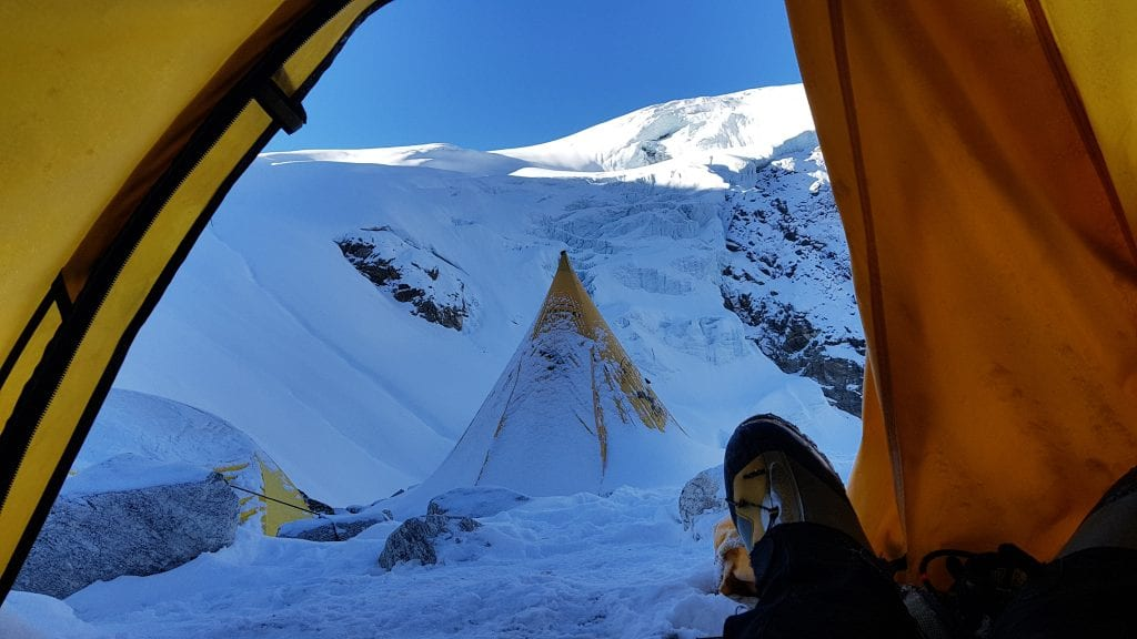 View from my tent at Base Camp