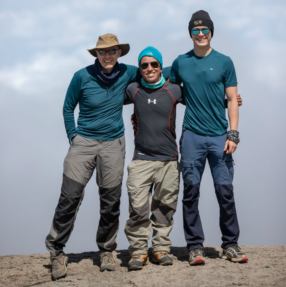 With my great Irish friends on Barranco Wall