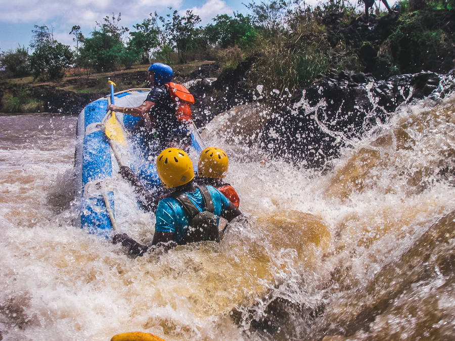 Kenya Tri Adventure rafting