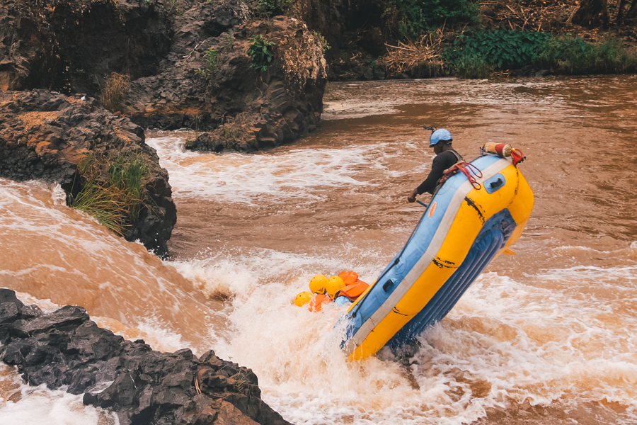 Rafting on the Kenya Tri-Adventure