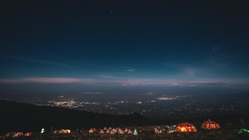 Trekking Kilmanjaro at night