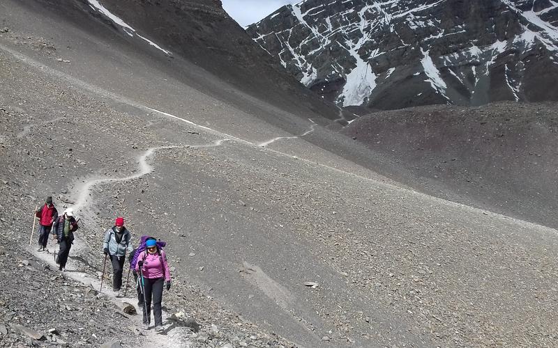 Trekking to Stok Kangri