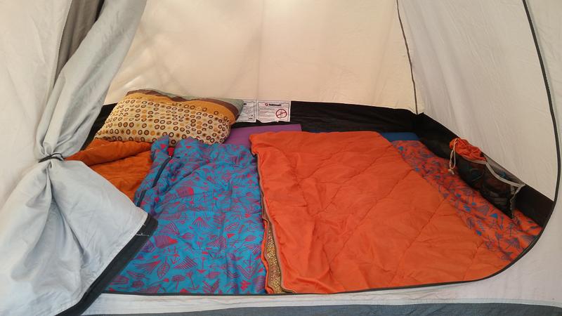Camping on Machu Picchu