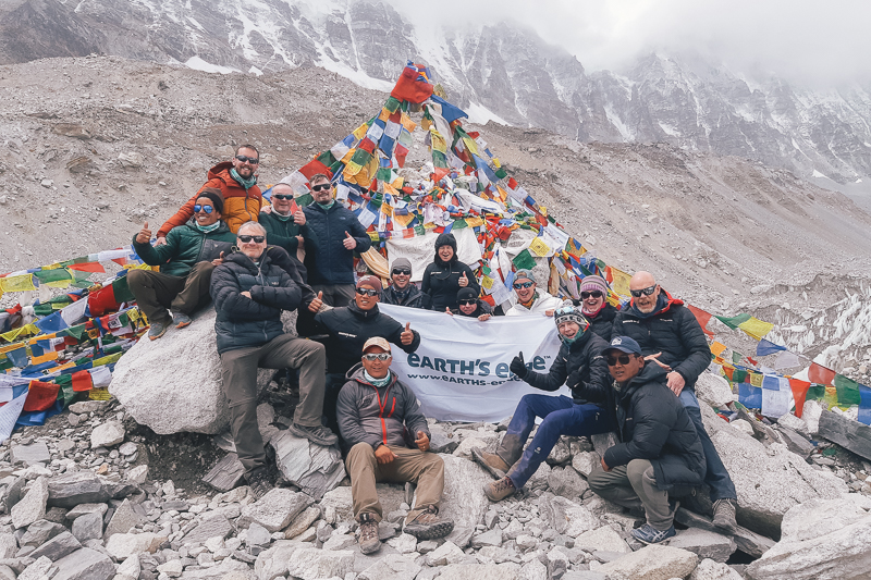 Group photo at Everest Base Camp
