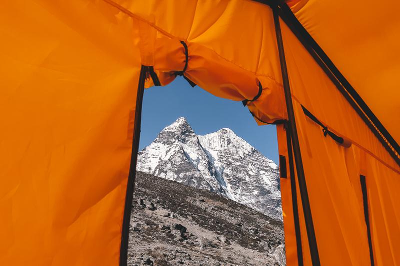 Camping on Island Peak