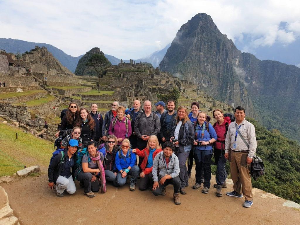 All the team at Machu Picchu