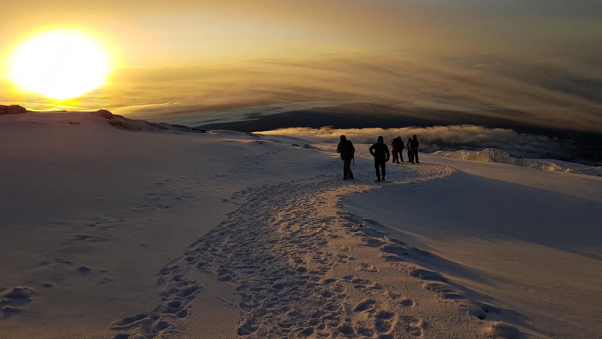 Trekking Kilimanjaro with Earth's Edge sunrise