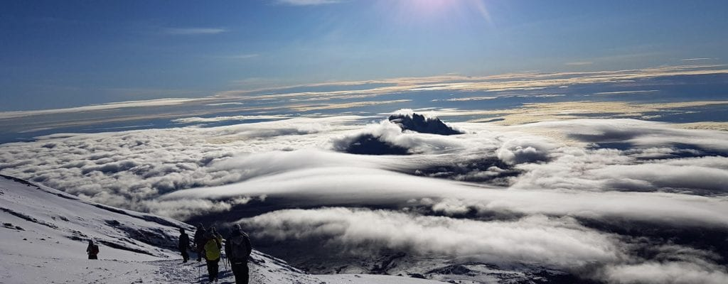 Climbing Kilimanjaro with Earth's Edge peak