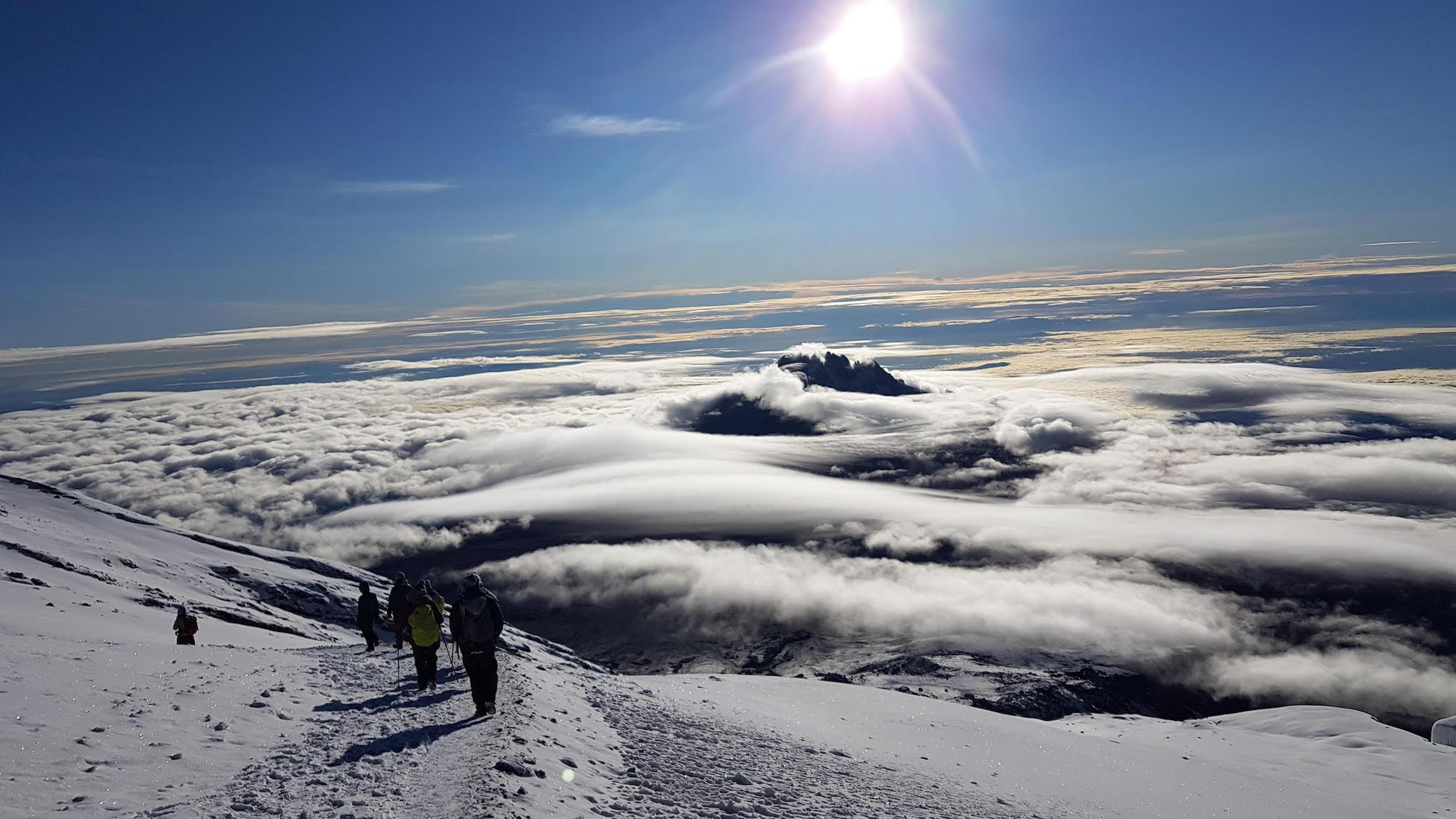 Climbing Kilimanjaro with Earth's Edge peak