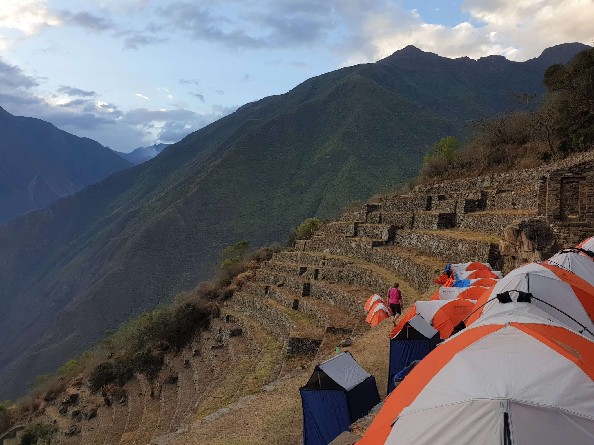 Camp set up on the Inca Trail with Earth's Edge