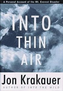 Into thin air, best books about trekking