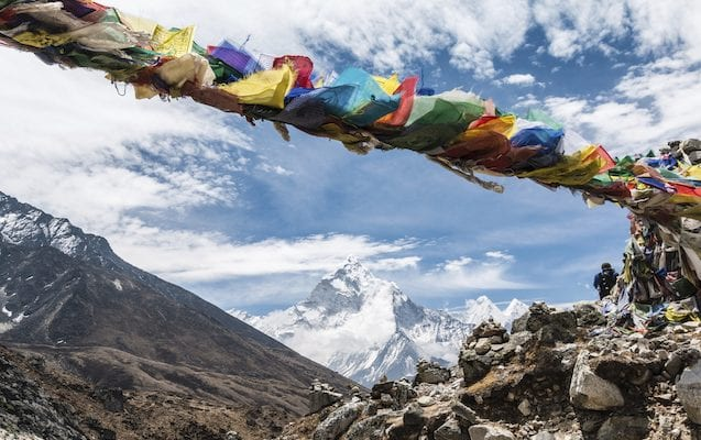Everest base camp with Earth's Edge