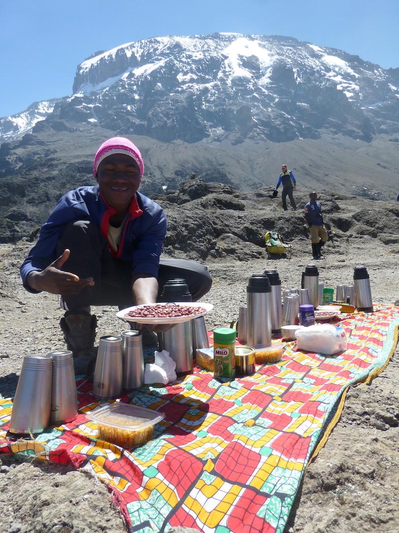 Food on Kilimanjaro