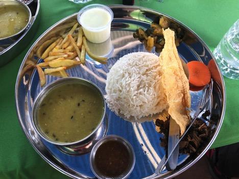 Food on Everest Base Camp trek - Dal Bhat