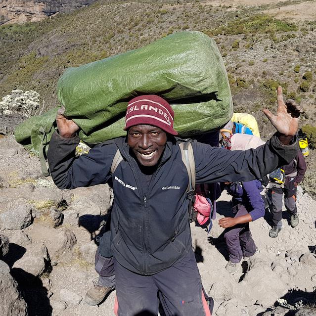 Porter on Kilimanjaro with Earth's Edge